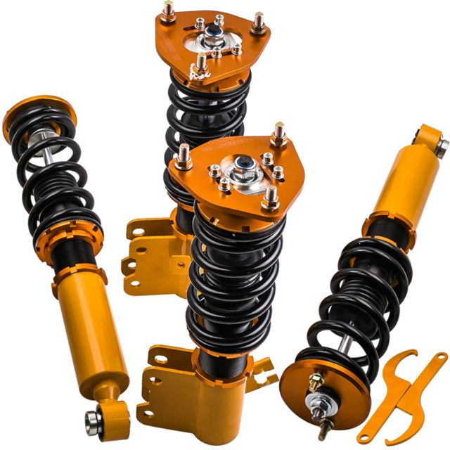 4X Amortisseurs Combinés Filetés pour Nissan S13 Silva 180SX 240SX 200SX Damper