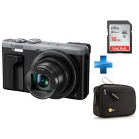 PANASONIC - Pack expert -DMC-TZ80 SILVER + Carte SD 16GO + Housse