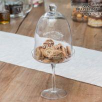 Marque Generique - Plateaux en verre avec cloche pour gâteaux - Cookie conservation decoration