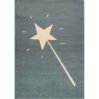 Art For Kids - Tapis Baguette Magique Bleu Canard par - Couleur - Bleu, Taille - 120 / 170 cm