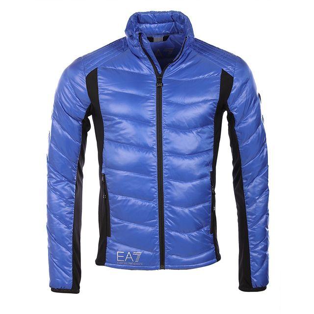 f33ef4adab5 Armani - Ea7 - Emporio Armani Homme - Doudoune légère Technic bleue 6XPB48