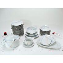 81dc517f007495 Générique - Service de table Vaisselle en porcelaine de Bavière pour 12  personnes 44 pièces