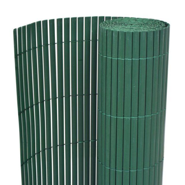 Vidaxl Cloture De Jardin Double Face 90 X 500 Cm Vert Vert Pas Cher Achat Vente Portillon Rueducommerce