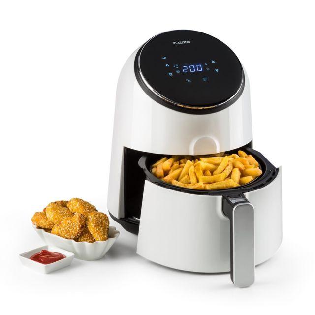 KLARSTEIN AirVital Friteuse à air chaud réservoir 2,5l - Puissance 1300W - 8 programmes de cuisson - blanche