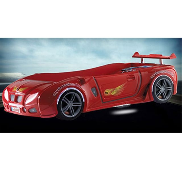 CHLOE DESIGN Lit enfant voiture racing Airone - rouge