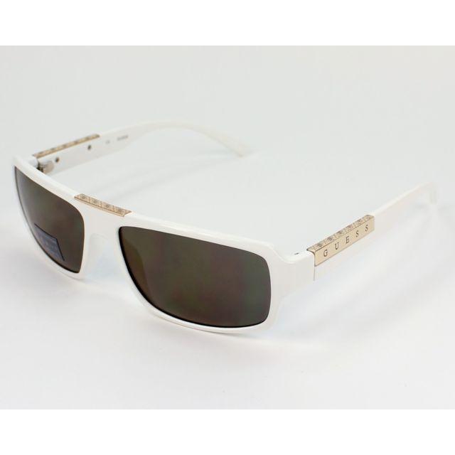 Guess - Gu-6691 Wht-3F Blanc - Lunettes de soleil - pas cher Achat   Vente  Lunettes Tendance - RueDuCommerce 4ba31b2526ad
