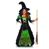 Leg Avenue - c49089 Storybook Witch Costume 2 PiÈCES, Taille S NOIR/VERT Fluo