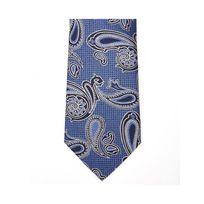 Bruce Field - Cette Cravate bleue 100% soie motifs bleus marine - 5260