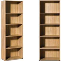 """Rocambolesk - Superbe Etagère bibliotheque de rangement brun 192cm avec 5 étages Meuble de rangement Bureau """"made in Germany"""" Neuf"""