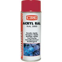 Crc - Peinture acrylique Aérosol - Rouge - 520ml/400ml