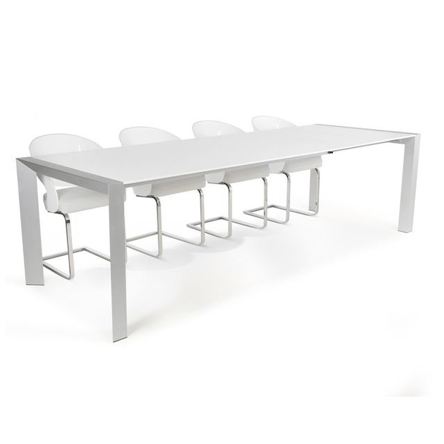 Alterego Table à dîner extensible 'TITAN' design blanche - 190 270, x95 cm