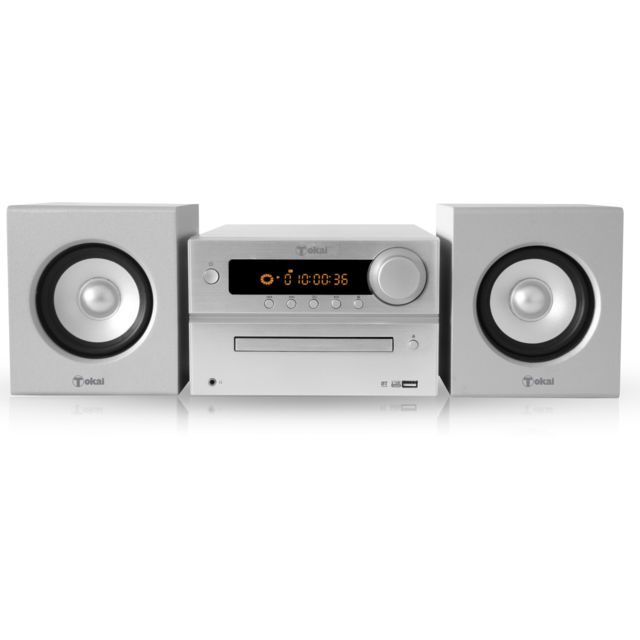 TOKAI MICRO CHAINE BLUETOOTH SILVER Bluetooth-CD-Mp3-40w-USB