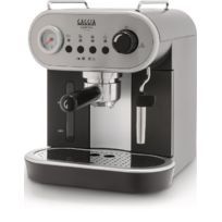 Gaggia - Machine à expresso manuelle Carezza Deluxe avec filtre crème pressurisé. accessoire vapeur pannarello et indicateur de température Inox/noir