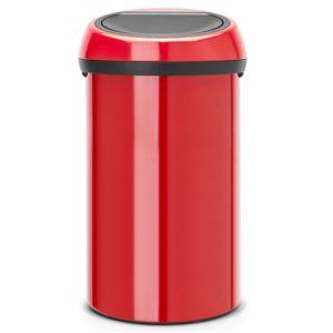 Brabantia poubelle de cuisine 60l rouge 402487 pas for Poubelle rouge cuisine
