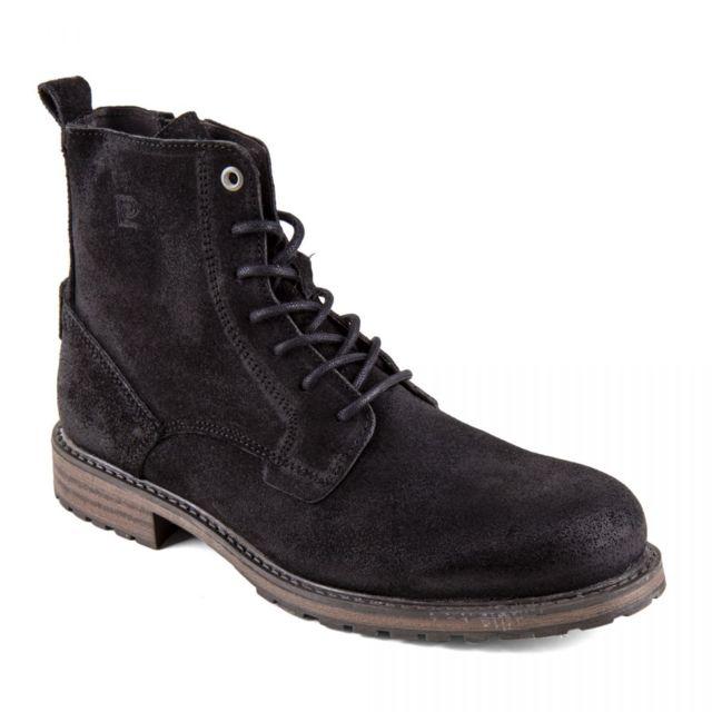 plus près de Promotion de ventes 100% authentifié Chaussures Boots montantes noires cuir retourné Homme