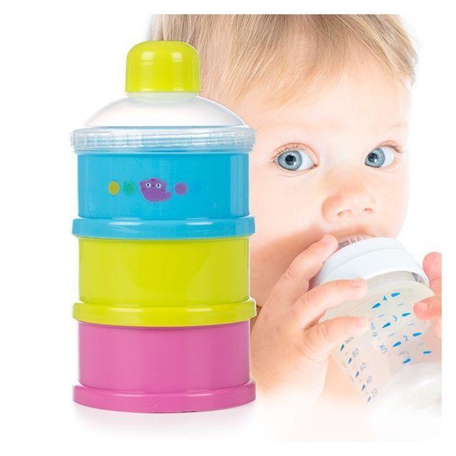 Totalcadeau Lot de 3 récipients doseurs pour lait en poudre - Nourriture pour bébé