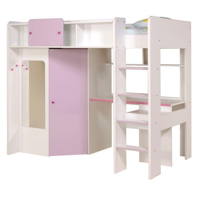 last meubles lit surlev missy 90 x 200 cm blanc 90cm x 200cm - Lit Sureleve