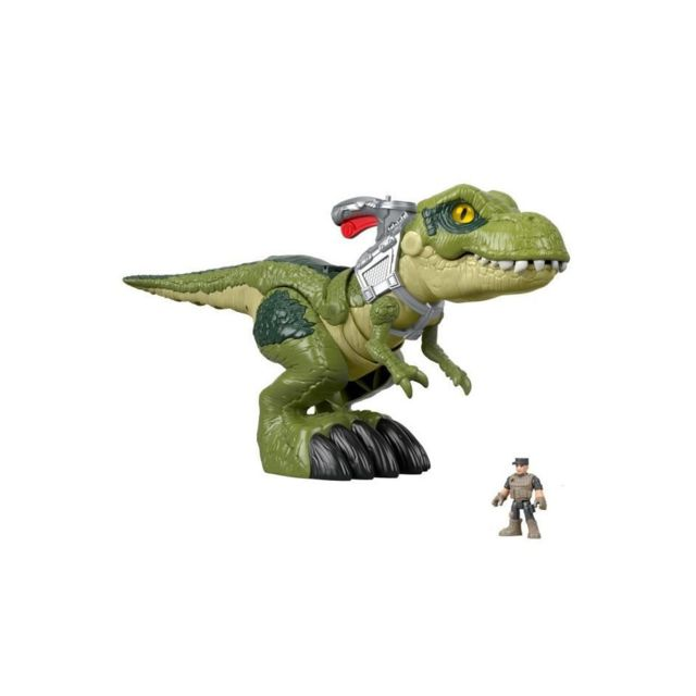 Fisher Price Fisher-price Imaginext Jurassic World Redoutable T-rex Méga Mâchoire - 3 ans et