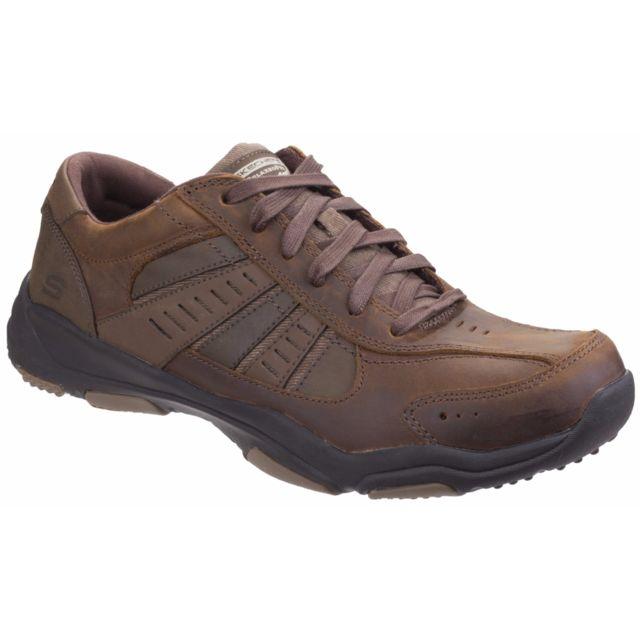 Skechers Sk64833 Larson Nerick - Chaussures à lacets - Homme 41 Eu, Marron foncé Utfs4226