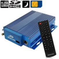 Wewoo - Enregistreur vidéosurveillance Voiture vidéo numérique de de 4-CH H.264 Rj45 Ir, Cif / Hd1 / D1 lecture / G-sonde / carte Sd / module Gps / fonction 3G