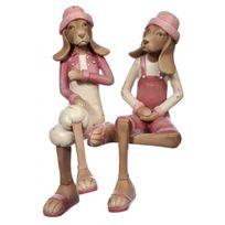 Jline Jolipa - Couple de Chiens assis Jolipa