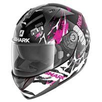 5c8c545758f Shark - casque moto intégral RIDILL DRIFT-R KVW femme noir blanc rose  brillant