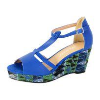Enza Nucci - Sandale Compensée Ql2810 Bleu