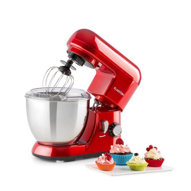 KLARSTEIN Bella Pico Mini robot de cuisine 4 litres 800W 6 vitesses - rouge