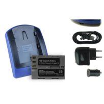 mtb more energy® - Batterie + Chargeur USB, En-el3e pour Nikon D80, D90, D200, D300, D300S, D700