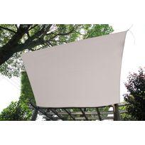 RUE DU COMMERCE - Voile d'ombrage rectangle écru L 400 x l 300 cm - GQC00461J