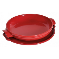 EMILE HENRY - set tarte tatin céramique 28cm rouge grand cru - 343699