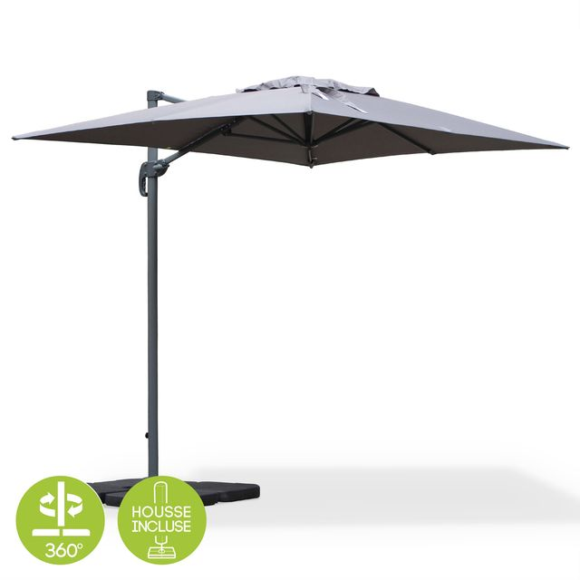 alice 39 s garden parasol biscarosse 2x3m gris pas cher achat vente parasols rueducommerce. Black Bedroom Furniture Sets. Home Design Ideas