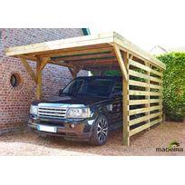 Madeira - Carport 1 voiture bois traité autoclave - Cecil