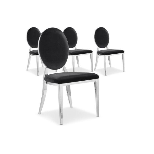 Cote Cosy Lot De 4 Chaises Design Noir Sydney Pas Cher Achat