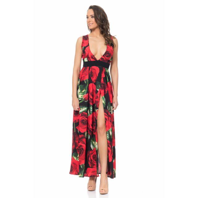 TANTRA Robe longue imprimé fleuri