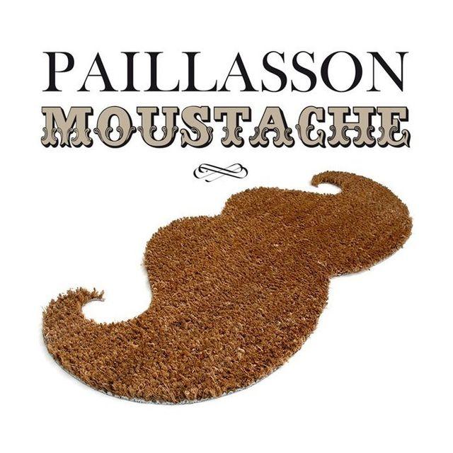 Kas Design Paillasson Moustache Fibres de Coco Naturelles