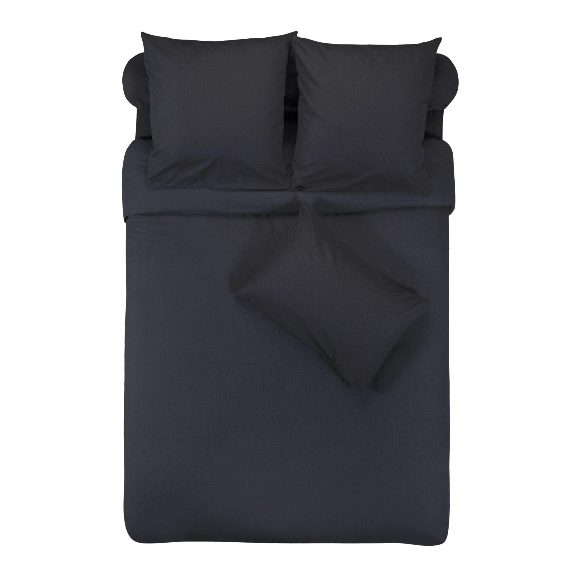alin a vitamine housse de couette pour lit 2 personnes anthracite 220cm x 240 cm pas cher. Black Bedroom Furniture Sets. Home Design Ideas