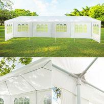 Idmarket - Chapiteau 3x12 m tente de réception blanche tonnelle sans côté