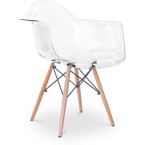 privatefloor chaise daw charles eames style acrylique transparent transparent pas cher. Black Bedroom Furniture Sets. Home Design Ideas