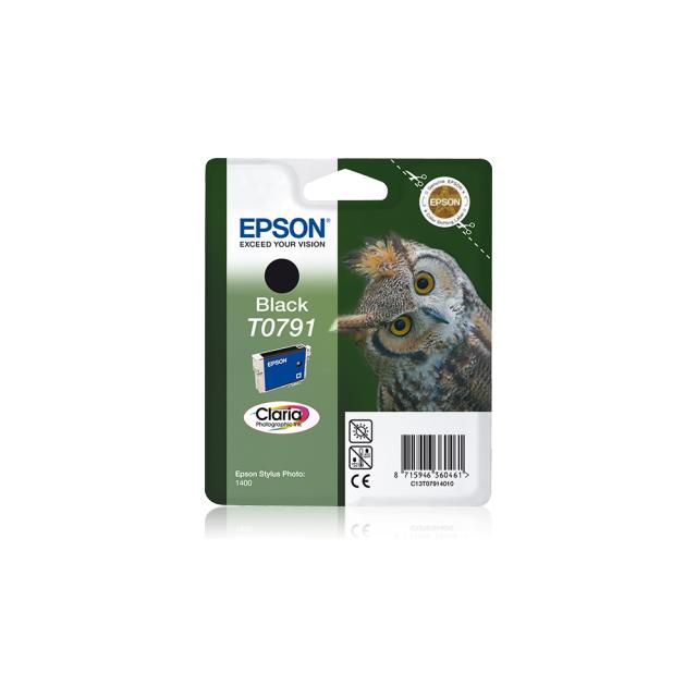 EPSON Cartouche d'encre Claria T0791 Chouette - Noire