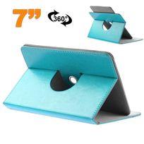 Yonis - Etui protection tablette tactile 7 pouces simili cuir 360° Bleu