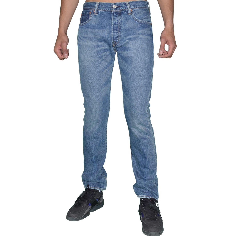 LEVI S- Levis - Jean - Homme - 501 Original - Stone Used - Bleu Moyen 8b73d943761e