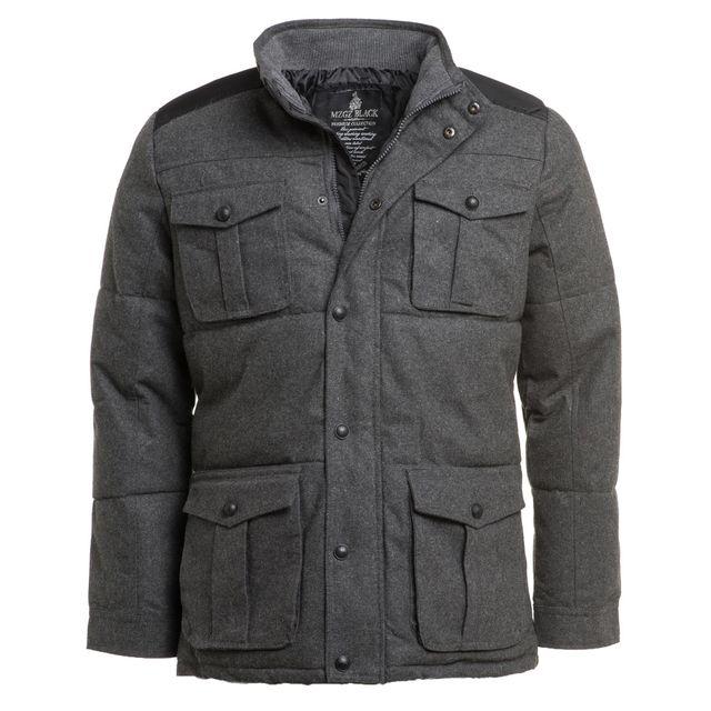 MZGZ Manteau homme gris à coudieres
