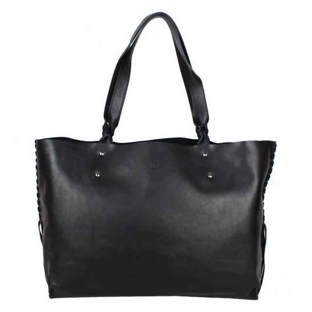 pas mal 47f83 34984 Sac main shopping cuir souple fabrication Franaise 23716 Noir