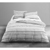 Today - Housse de couette Malawi 220x240cm avec taies d'oreillers 100% coton 57 Fils/cm²