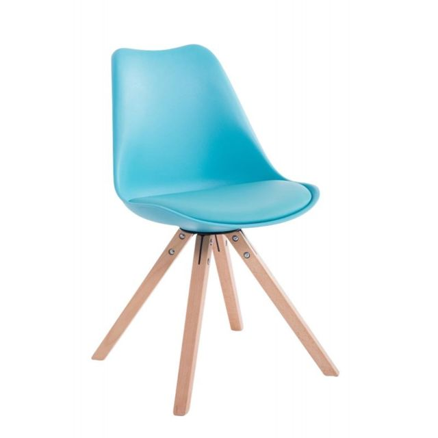 scandinave Cds10021 salle simili pieds bois chaises à cuir manger 2 bleu Lot de de 0Om8vNnw