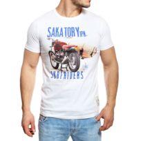 Redskins - T-shirt homme Sakatory Unic blanc manches courtes