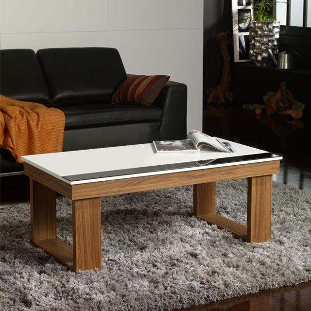 Tousmesmeubles Table basse relevable Noyer - Upto