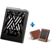 COWON - Plenue-D-32GBArgent + Housse en cuir Marron pour lecteur Audiophile Plenue D