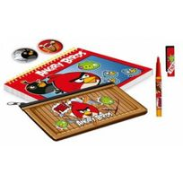 Angry Bird - s - Lot papeterie Trousse Cahier Stylo Badges